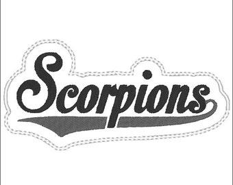 Scorpions Headband Slider design Instant Download