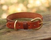 Handmade Leather Collar for Medium Dogs