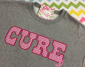 CURE Fabric Applique Sweatshirt (Benefits Breast Cancer Research - Susan G Komen)