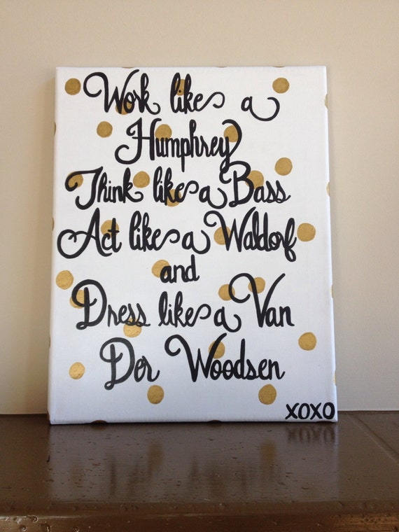 Items Similar To Gossip Girl Canvas Painting On Etsy