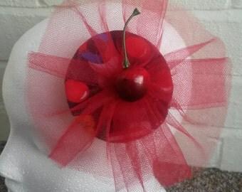 Rockabilly- Naurtical Cherry FASCINATOR/ hair clip