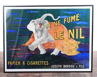 Je Ne Fume Que Le Nil-Original 1920s Elephant Cigarette French Poster-Rare