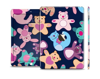 The Stuffed Vector Color-Bears Skin Set for the Apple iPad (All Models Available)