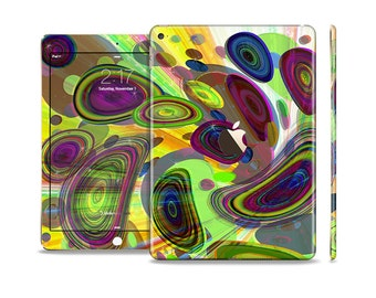 The Warped Colorful Layer-Circles Skin Set for the Apple iPad (All Models Available)