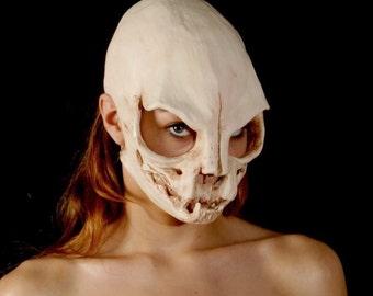 Cat skull mask without ears sz S vegan