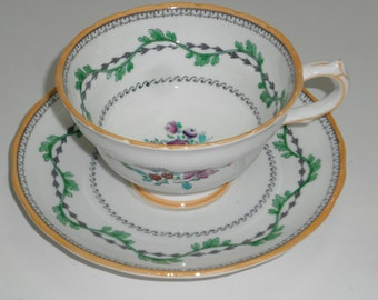 "Copelands Grosvenor China Tea Cup -  ""Portabello""  - Made in England"