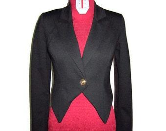 Black Elegant Jersey Blazer