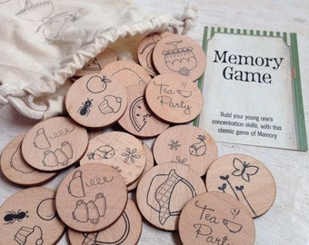 Wooden Memory Game - Tea Time Edition