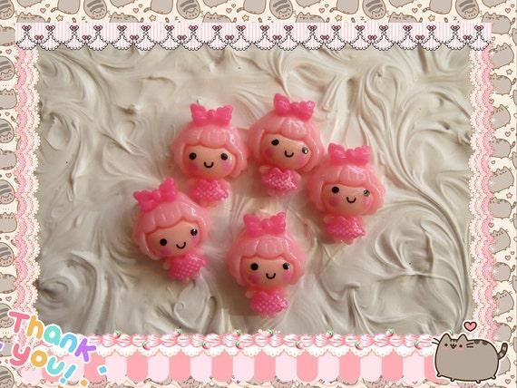 0: )- CABOCHON -( Sweet Bubblegum Girl PINK