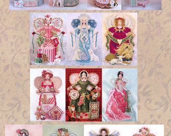 Brooke's Books Spirit Angels I SALE Overstock Lot 14 Spirit Angels Cross Stitch Charts-Only Regularly 112 Dollar Value, Now 40