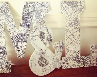 Create a Letter Map Sign (1 Letter) - Free Shipping :)