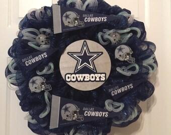 Dallas Cowboys Wreath, Cowboys Wreath, Football Wreath, Sports Wreath, Team Wreath,Cowboys Booster Club, NFL Wreath, Dallas Cowboy Fans