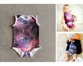Baby Bodysuit Gender Neutral All-over Print in Organic Cotton for Gender Neutral Cool Baby / Hipster Baby Clothes / 0-24M