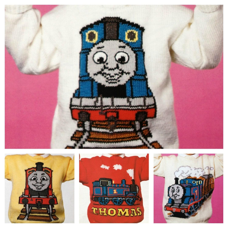Knitting Pattern Train Sweater : Thomas the Tank Engine knitting pattern for sweaters by ECBcrafts