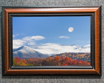 Framed Smoky Mountains Moonrise Fine Art Photo from William Britten