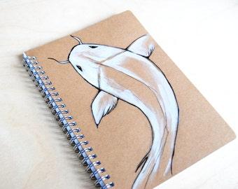 Notebook white Koi Fish