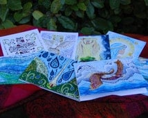 Christian Notecard, Catholic Notecard with Prayer and Scripture Art, Gift, A2 size cards with envelopes, FREE SHIPPING