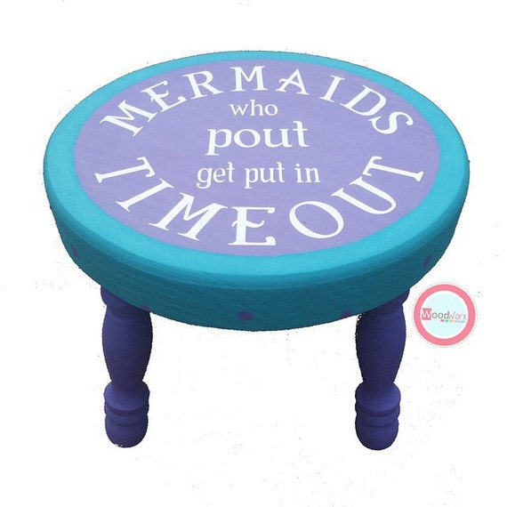 Mermaid Stool Mermaid Step Stool Hand Painted By