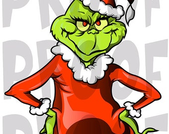 Instant Download, 8x10, THE GRINCH, The Grinch Iron On, Dr Seuss, Christmas Iron On's, GRINCH