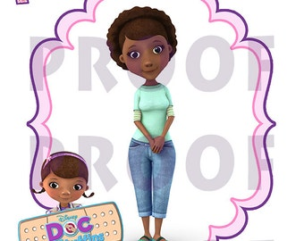 DOC MCSTUFFINS Iron On, Mom of Mommy Of, Mcstuffins Mom ...