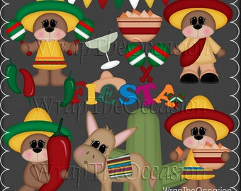 Fiesta Bears - ECU Clipart