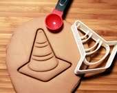 Safety Cone Construction Cookie Cutter Made to order G0118