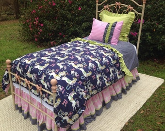 """Cute """"Madison"""" Twin bedding set - Ready to Ship!!"""