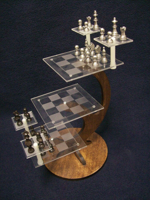 Chandeliers pendant lights - Tri dimensional chess set ...