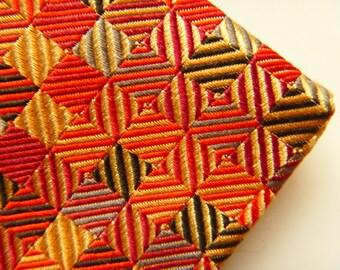 Silk tie,Vintage Designer Necktie,Colorful, Long Tie