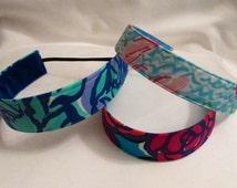 Man Tai, Lobster Roll, RoseWater Headband; EmBands -  Lilly- Inspired Wide Non-Slip Fabric Headband; Girls Lilly Headband; Nurse Headband