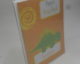 Grandmas brag book Boy Photo Album Dinosaur Photo Album Dino Baby Shower 5x7 photo album 4x6 Personalized Picture Album Photo Book 142