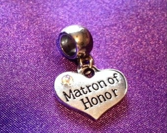 Matron of honor european bead charm