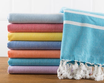 Classic Towel, Turkish Bath Towel, Turkish Cotton Towel, Peshtemal, Hammam Towel, Throw