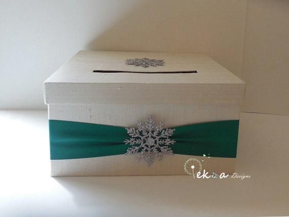 Wedding Gift Card Box / Winter Wedding card box / wedding money box ...