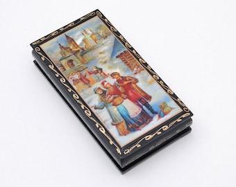 Russian casket Jewelry box Trinket Box Free Shipping plus free gift!
