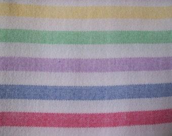 Flannelette single bed flat sheet
