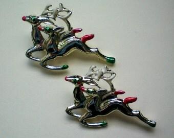 Santa's Reindeer Scatter Pins - 2396