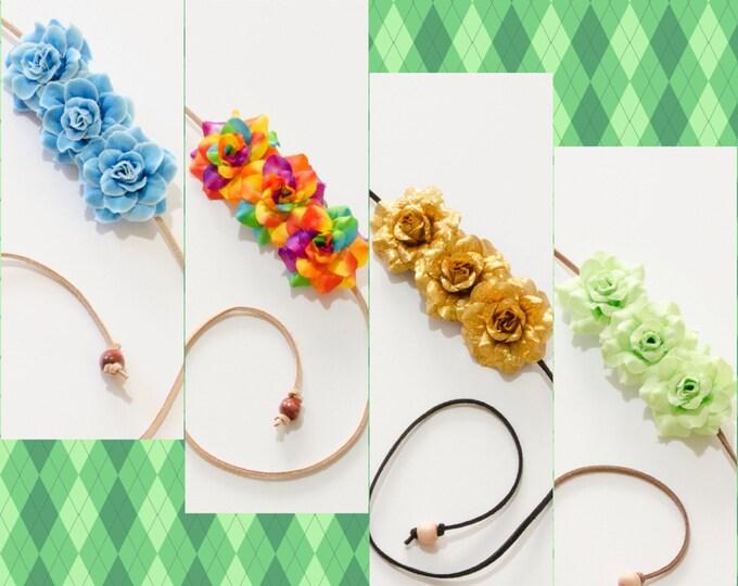 Saint Patrick's Day Side Flower Crowns Set