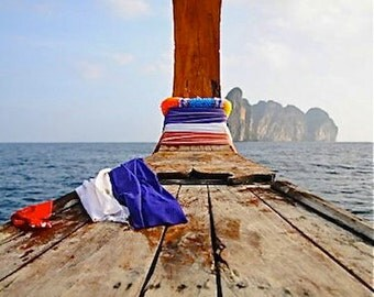 Thailand, Koh Phi Phi, Boats, Ocean, Mountains