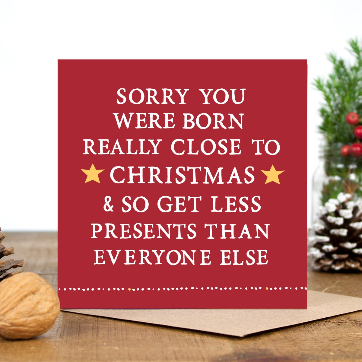 Funny Birthday Card Funny Christmas Card Alternative