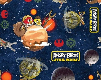Angry Birds Star Wars - Space Battle Fabric