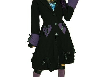 D-Light Hodded  Gothic Lolita Jacket Purple and Black