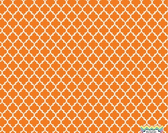 Orange quatrefoil craft  vinyl sheet - HTV or Adhesive Vinyl -  quarterfoil pattern HTV1432