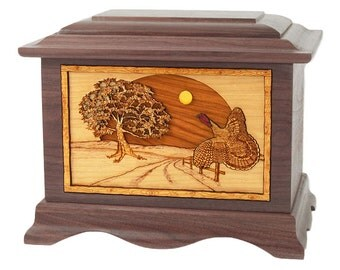 Walnut Turkey Ambassador Wood Cremation Urn