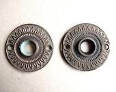 Pair of Ornate Antique Vintage Doorknob Covers, Sunflower Rosette, Door Knob Plate, Hardware, Brass, Bronze, Victorian