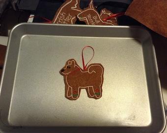 Husky or Siberian Husky Personalized Felt Gingerbread or Angel Ornament