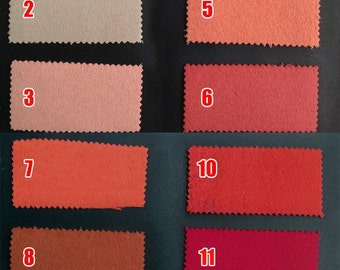 Wool Cashmere Blend Fabric Color Chart
