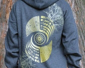 Sacred Geometry Crop Cirlce - REFLECTION - Men's Hoodie