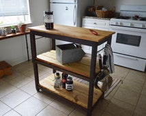 cutting board kitchen island handcrafted kitchen island made with 100 reclaimed wood 17105