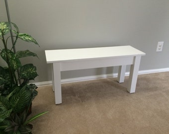 White Farmhouse Bench / Dinning Bench / Entry Bench